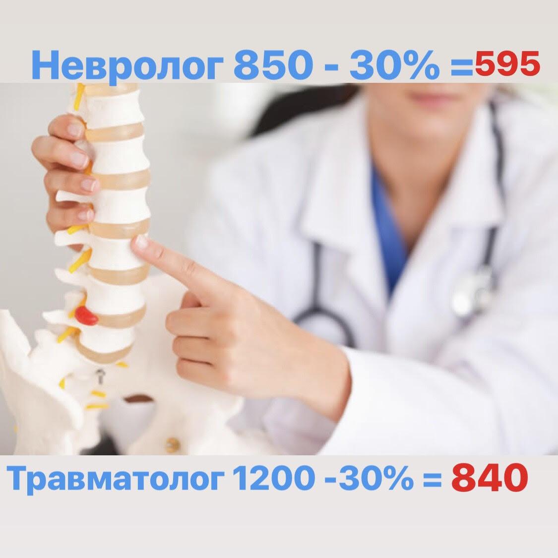 Скидка на приемы врачей — 30%